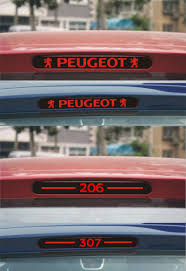peugeot 307 new new styling carbon fiber brake light sticker car decorative cover