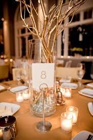 25th Wedding Anniversary Table Centerpieces by Gold Silver Branch Centerpiece Modern Centerpieces Spray