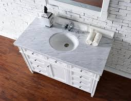 48 Bathroom Vanity Without Top Contemporary 48 Inch Single Bathroom Vanity White Finish No Top