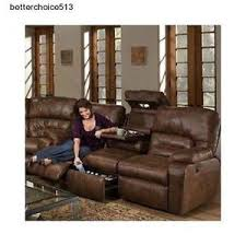 Reclining Sofas Leather Leather Reclining Sofa Ebay