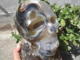 aliexpress yang 4900g 10 7 lb natural moss agate skull face of yin and yang china