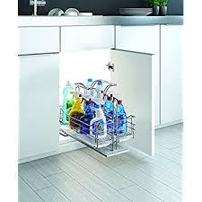 Under Cabinet Sliding Shelves Amazon Com Under Sink Organizer Pull Out Removable Sliding Shelf