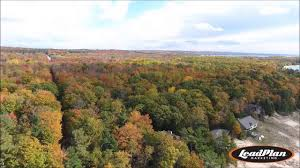 northern michigan fall color tour drone footage