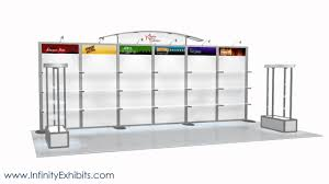Display Shelving by 20ft Modlite Shelving Trade Show Display Booth Youtube