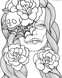 printable coloring pages sugar skulls free printable coloring pages for adults sugar skulls skulls