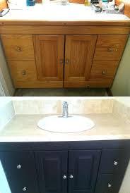 how to refinish bathroom cabinets refinish bathroom vanity spray paint bathroom vanity top fannect