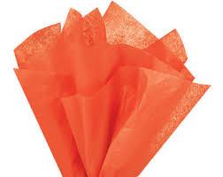 gift tissue paper orange tissue paper etsy