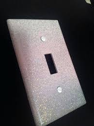 custom light switch covers custom wall plate covers sparkly pink white gray style glitter light