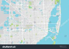 City Map Of Florida by Vector City Map Miami Florida Stock Vector 580940191 Shutterstock