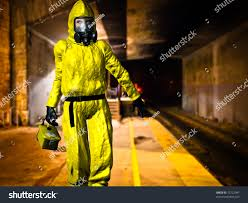 Firefighter Boots Material by Woman Work Yellow Hazardous Material Protective Stock Illustration