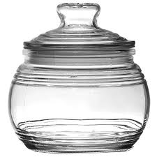 bulk glass jars with ribbed accents and tight sealing lids