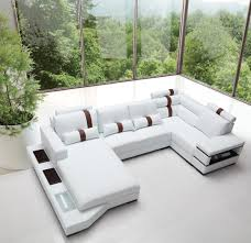 Modern White Bonded Leather Sectional Sofa Divani Casa Massimo Contemporary Bonded Leather Sectional Sofa