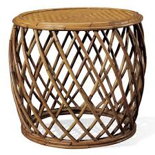 Wicker Accent Table Lodge Rattan Side Table Ralph Home
