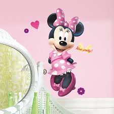 mickey minnie mouse heads wall words decal sticker graphic image of minnie mouse wall decals art