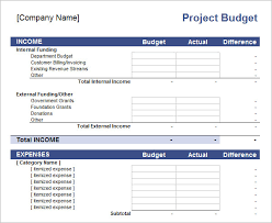 Tracking Project Costs Template Excel 10 Excel Budget Templates