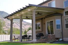 Patio Awning Reviews Lindon Utah Flat Pan Awning With Skylights Stucco Posts And