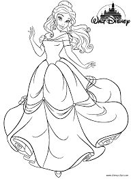 belle ariel and cinderella coloring pages coloring home