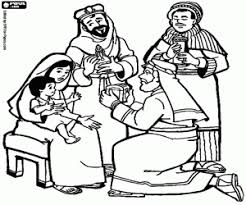 Three Kings Or Three Wise Men Coloring Pages Printable Games Wise Worship Coloring Page