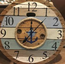 simple nautical wall clock decor laluz nyc home design