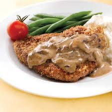 country fried steak with mushroom gravy clean eating magazine