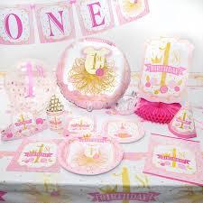 1st birthday party supplies pink gold birthday party supplies walmart