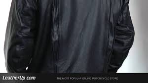 armored leather motorcycle jacket b7018 xelement men u0027s armored biker jacket at leatherup com youtube