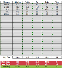 Diet Tracker Spreadsheet How To Build Meals With The Iifym Calculator And Excel