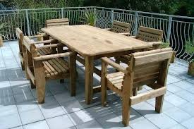 6 Seat Patio Table And Chairs 6 Seater Wooden Garden Furniture Patio Set 8 Garden Table