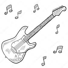 electric guitar coloring pages