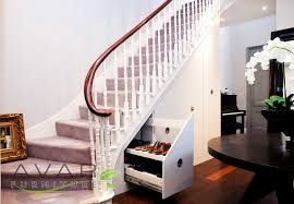 furniture cool shoe cabinet under stair in nice living room design