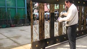 2015 02 17 wrought iron gate painting youtube