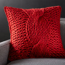 Red Decorative Pillow Throw Pillows Decorative And Accent Crate And Barrel