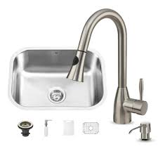 vigo undermount stainless steel 23 in single basin kitchen sink
