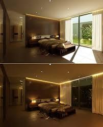 eclairage chambre a coucher led decoration eclairage led indirect chambre coucher rideaux spots