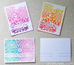 easy ombre glitter card set lab