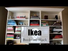 how to make an ikea bookcase look expensive hack youtube