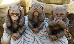 set of 3 wise monkeys tor