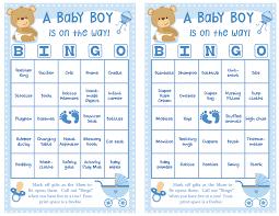 baby bingo for baby shower home decorating interior design