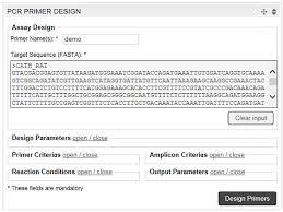 online design tools free online primer design tools