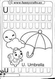 letter u writing practice worksheets funnycrafts