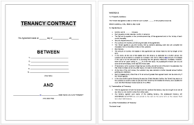 doc 830535 sample tenancy agreements u2013 tenancy contract template