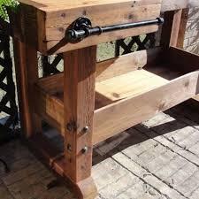 custom cedar rustic bar table all natural handmade piece by