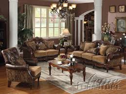 Chenille Sofa And Loveseat Dreena Espresso Chenille Sofa Set 05495 Set By Acme Living Room