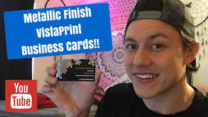 Vistaprint 10 Business Cards 2017 Metallic Finish Vistaprint Business Cards Unboxing Youtube