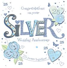 25th Anniversary Wishes Silver Jubilee Gilded 25th Anniversary Cake Pick 25th Anniversary Guest Book