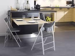 table escamotable dans meuble de cuisine cuisine 12 astuces gain de place table escamotable