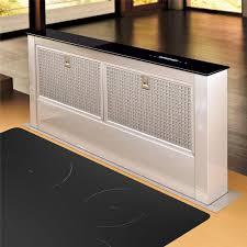 hotte cuisine verticale airforce downdraft inox et verre hotte plan de travail pour la cuisine