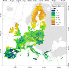 European Map by New European Map Of Topsoil Organic Carbon European Commission