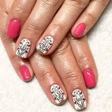 gel nails natural nails pink nails tulip nail art spring nails