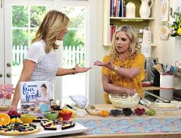 sarah michelle gellar on the set of home u0026 family tv show in los